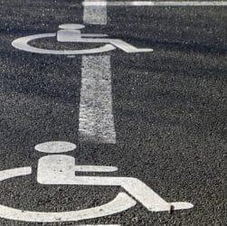 Tracé au sol handicap