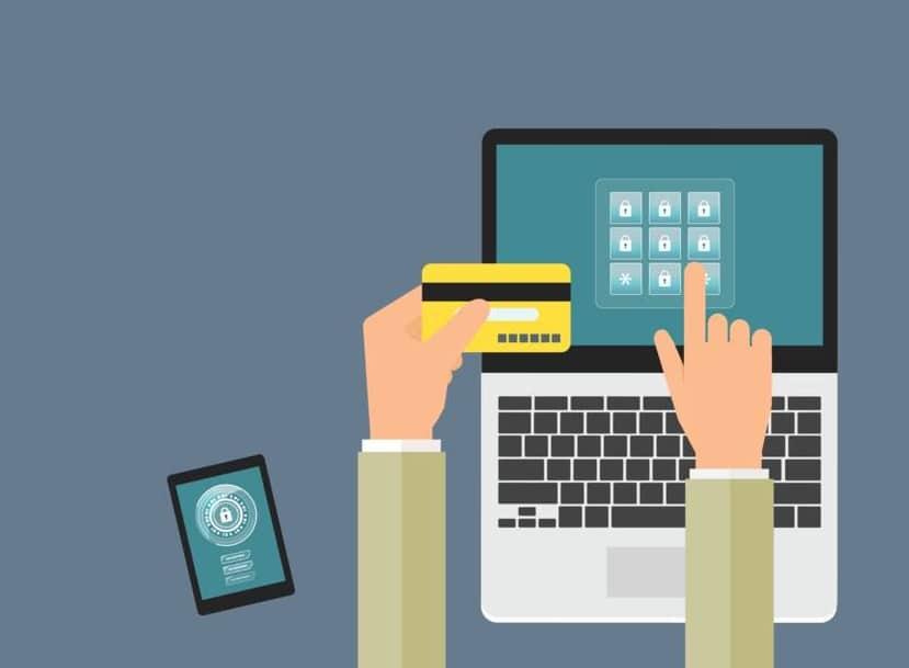 Image ordinateur tablette et carte de crédit