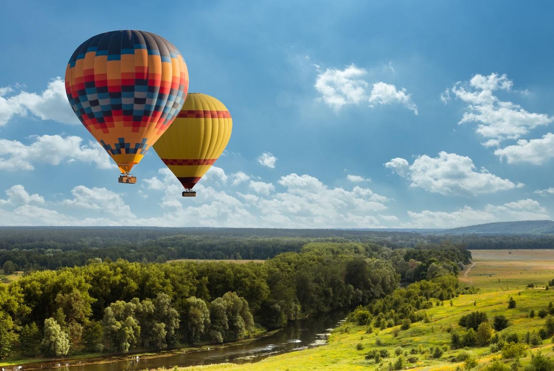 des montgolfières