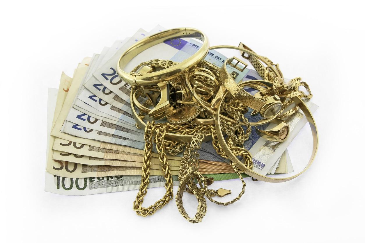 de l'or avec des billets monnaie
